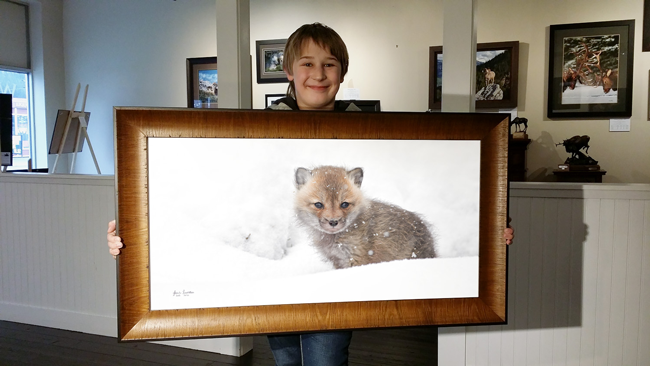 JosiahLaunstein Holding framed First Snow 5in