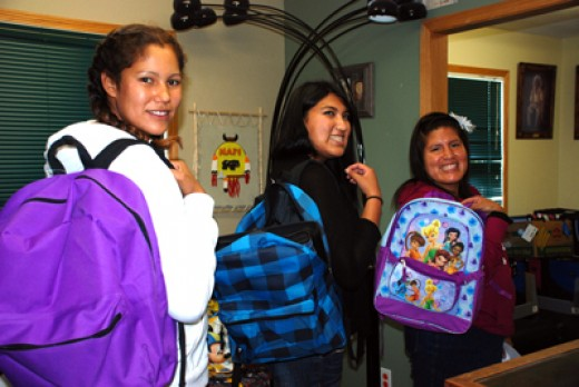 Backpacks of goodwill thanks to RBC