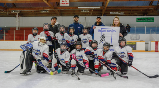 Novice Chinooks win league banner