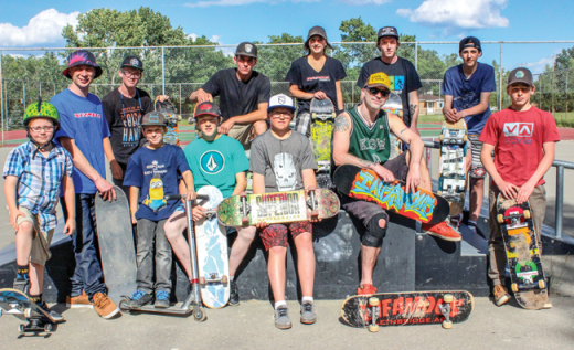 Kids bust out boards for Go Skateboarding Day