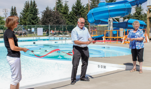 Pass pool officially opens for business