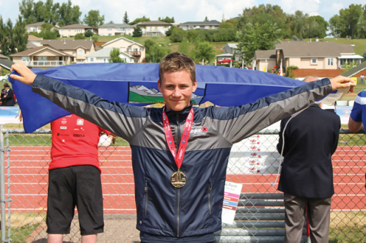 Beaver Mines athlete brings home gold
