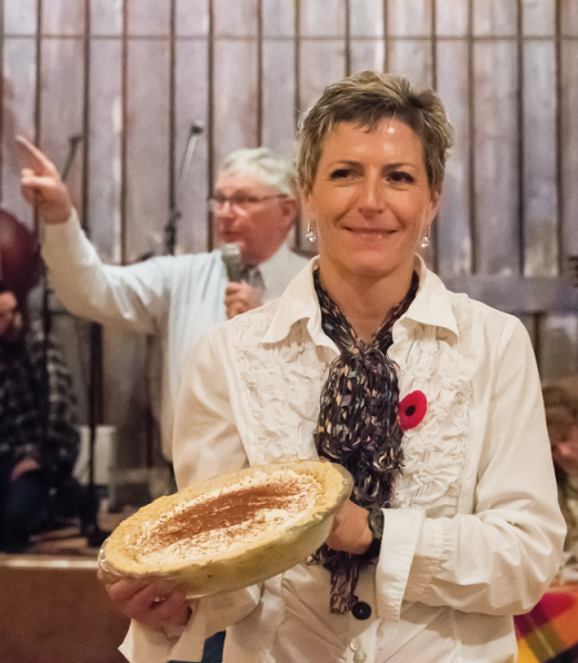 Pie auction goes a long way at the Maycroft Hall
