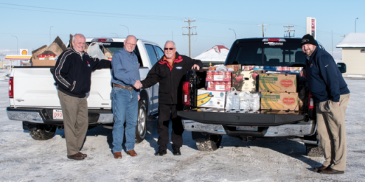 We Scare Hunger program brings in truckloads for food bank