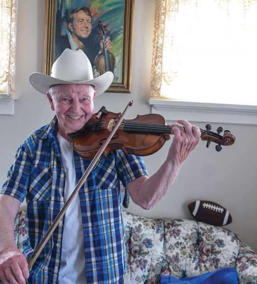 Memories of the Sons of the Pioneers and a lifetime with fiddle in hand