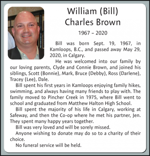 Obituary for William Brown