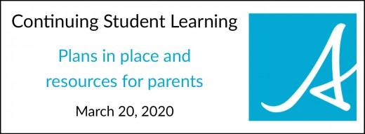 Plans for student learning from home