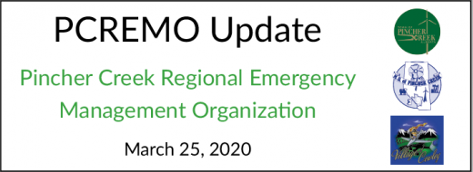 PCREMO updates and notices for March 25