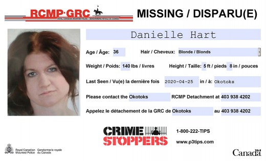 Update: Okotoks RCMP have located missing woman