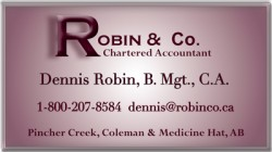 Robin & Co., Chartered Accountant - Crowsnest Pass