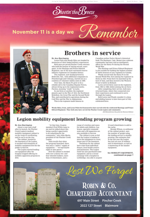 2019 Remembrance Day Feature