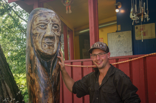 Sleepy Hollow features carvings of local artist